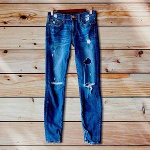 J. Crew Toothpick Distressed Skinny Jeans-25